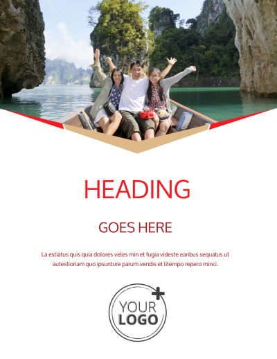 Leading Travel Agents Flyer Template Preview 1