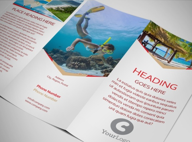tri fold travel brochure template free - travel agency tri fold brochure template