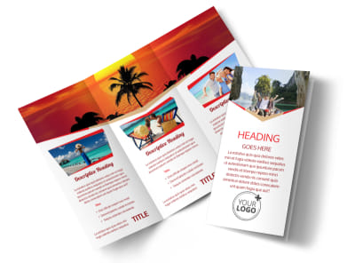 Travel Agency Tri-Fold Brochure Template preview