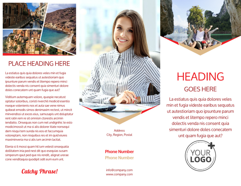 Leading Travel Agents Brochure Template Preview 2