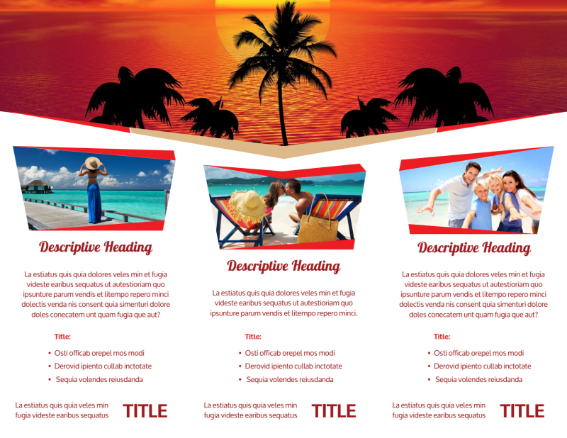 Leading Travel Agents Brochure Template Preview 3
