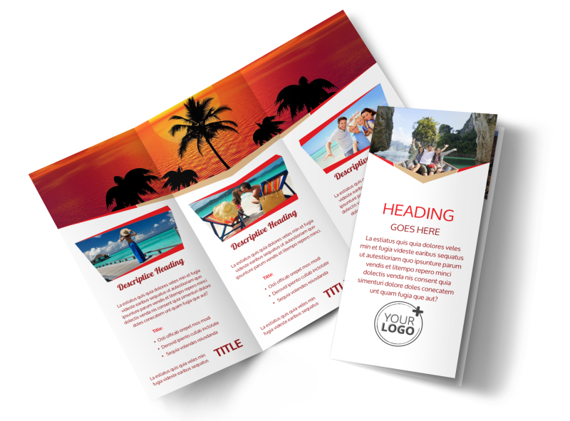 Leading Travel Agents Brochure Template | MyCreativeShop
