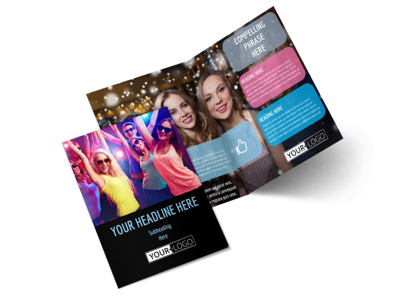 VIP Night Club Party Bi-Fold Brochure Template 2
