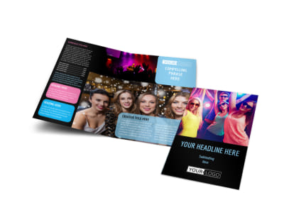 VIP Night Club Party Bi-Fold Brochure Template preview