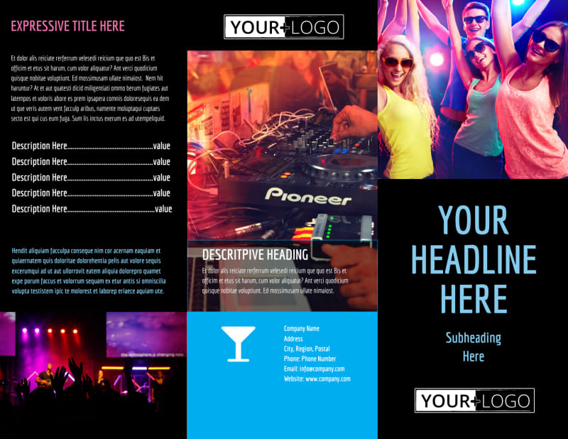 VIP Night Club Party Brochure Template Preview 2