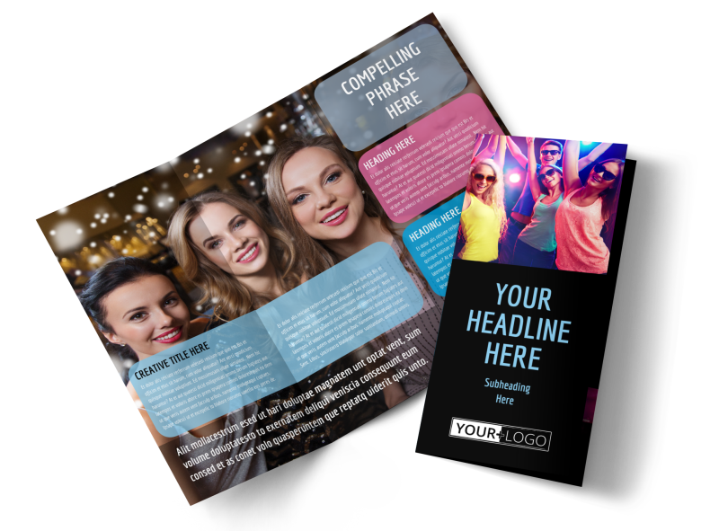 VIP Night Club Party Brochure Template Preview 1