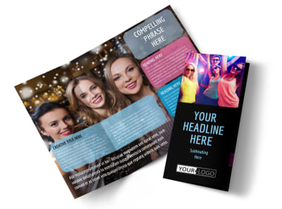 VIP Night Club Party Tri-Fold Brochure Template preview