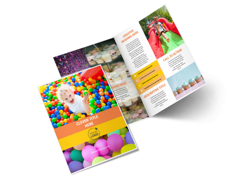 Party Rental Supplies Bi-Fold Brochure Template 2