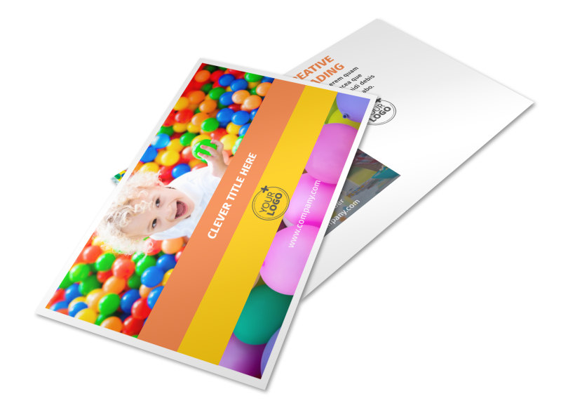 Party Rental Supplies Postcard Template 2