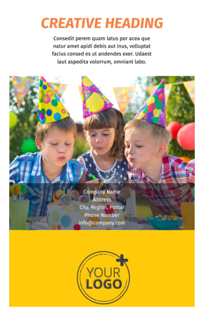 Party Rental Supplies Flyer Template Preview 2