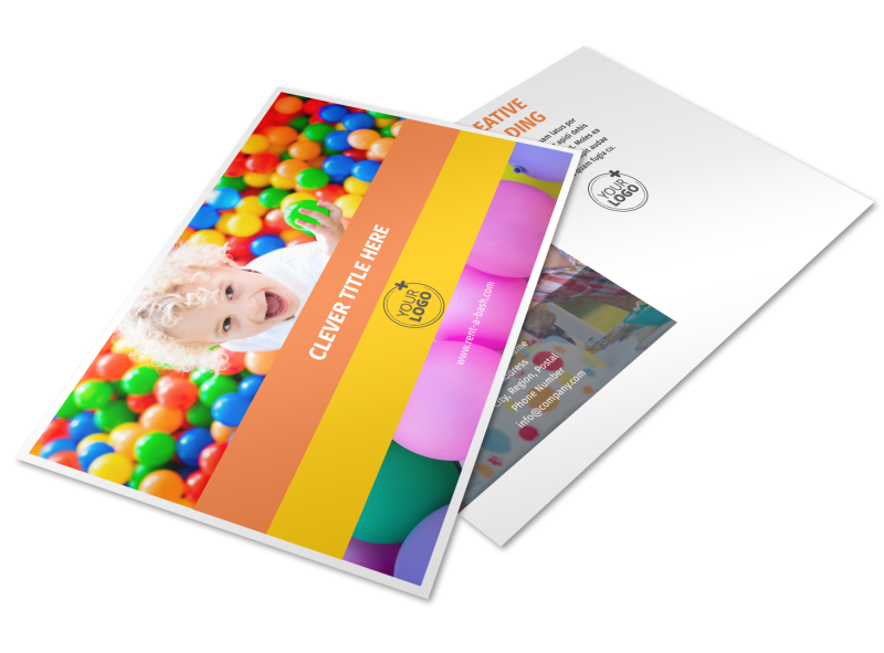 Party Rental Supplies Postcard Template Preview 1