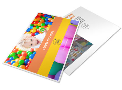Party Rental Supplies Postcard Template