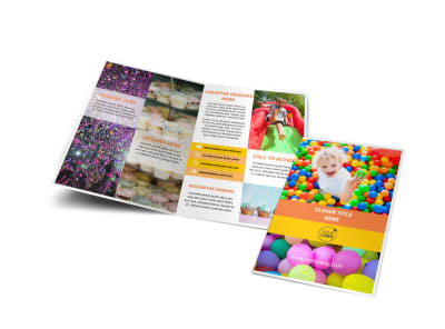 Party Rental Supplies Bi-Fold Brochure Template