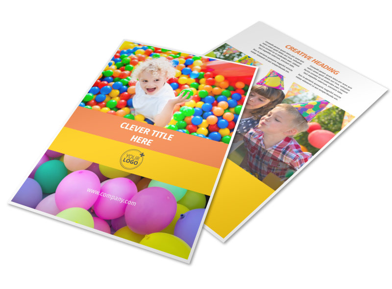 Party Rental Supplies Flyer Template