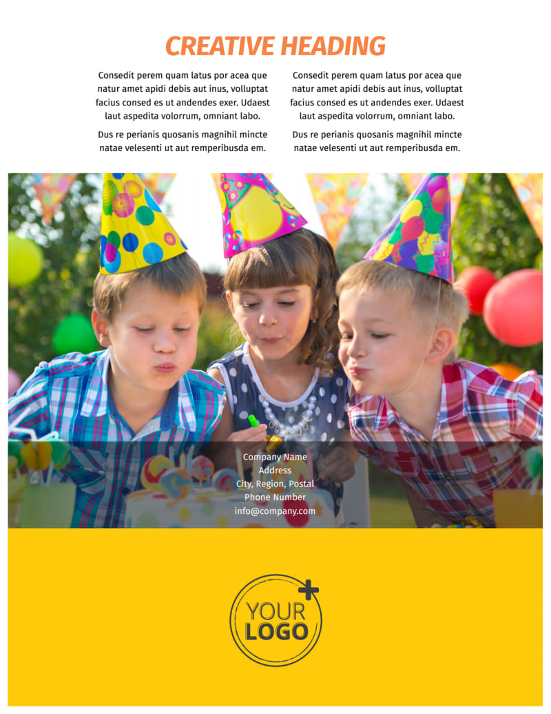 Party Rental Supplies Flyer Template Preview 3