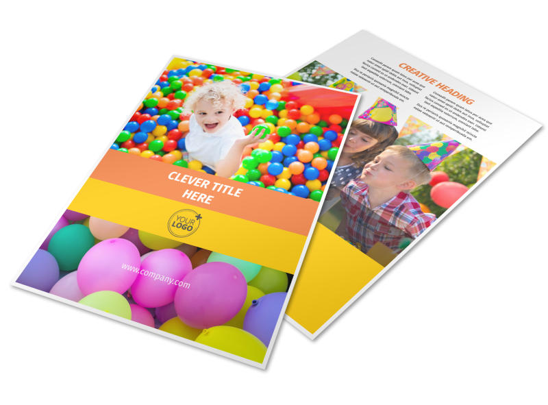 Party Rental Supplies Flyer Template Preview 1