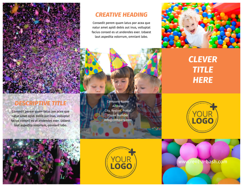 Party Rental Supplies Brochure Template Preview 2