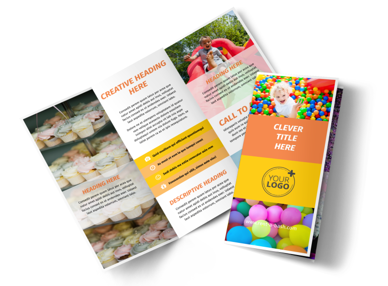 Party Rental Supplies Brochure Template Preview 1