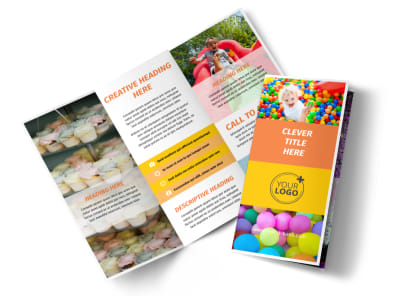 Party Rental Supplies Tri-Fold Brochure Template