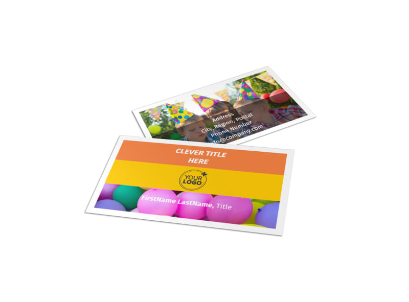 Party Al Supplies Business Card Template