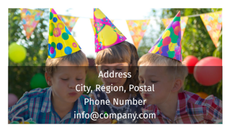 Party Rental Supplies Business Card Template Preview 3
