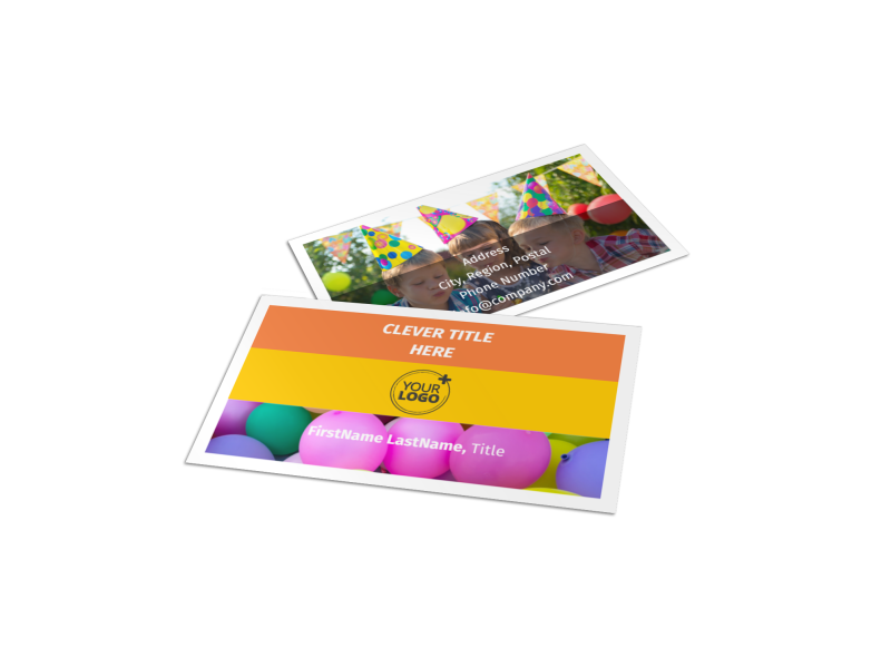 Party Rental Supplies Business Card Template Preview 1