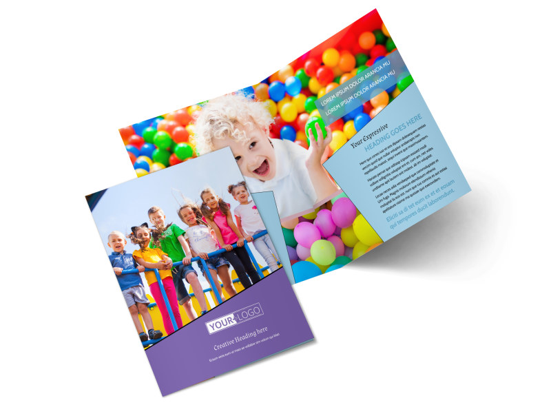 Fun School Party Bi-Fold Brochure Template 2