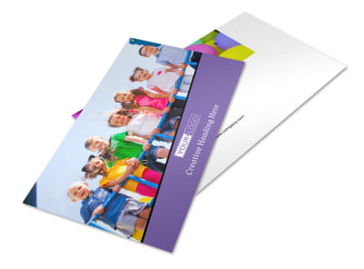 Fun School Party Postcard Template 2 preview