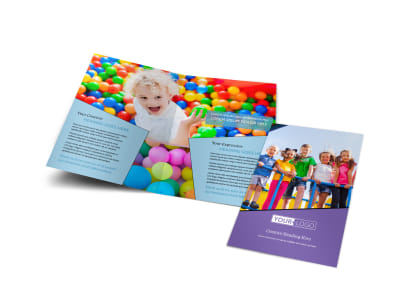 Fun School Party Bi-Fold Brochure Template preview