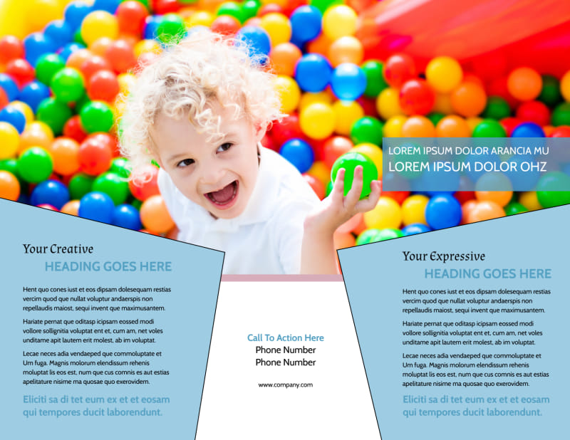 Fun School Party Brochure Template Preview 3