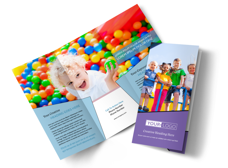 Fun School Party Brochure Template Preview 1