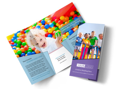 Fun School Party Tri-Fold Brochure Template preview