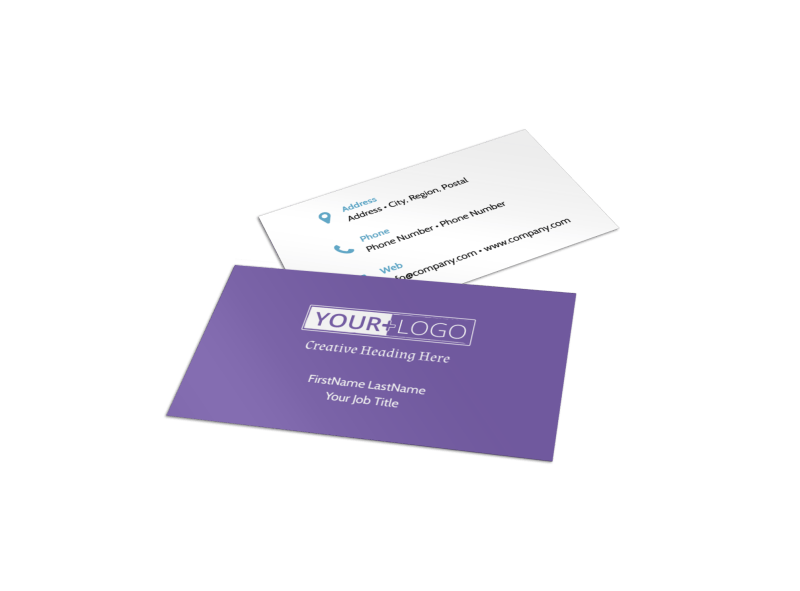 Fun School Party Business Card Template Preview 1