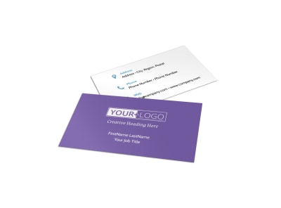 Fun School Party Business Card Template