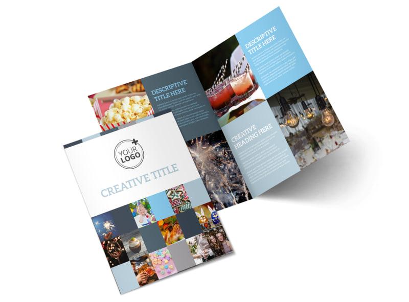 Holiday Party Service Bi-Fold Brochure Template 2