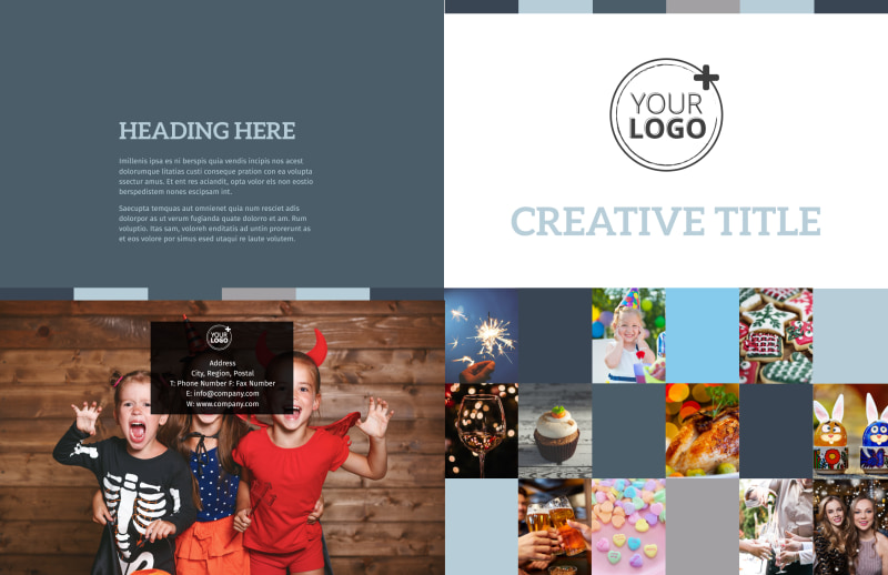Holiday Party Service Brochure Template Preview 2