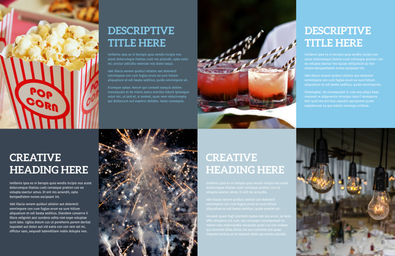 Holiday Party Service Brochure Template Preview 3