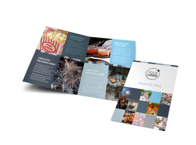 Holiday Party Service Bi-Fold Brochure Template preview
