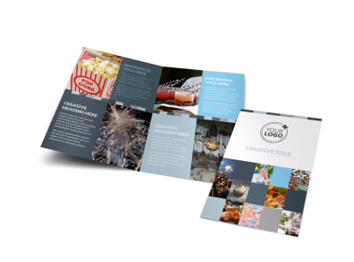 Holiday Party Service Bi-Fold Brochure Template