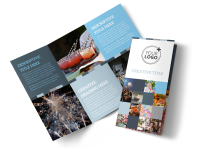Holiday Party Service Tri-Fold Brochure Template preview