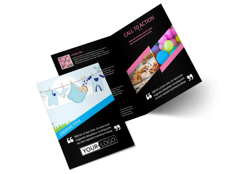 Baby Shower Service Bi-Fold Brochure Template 2