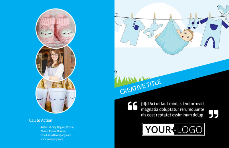 Baby Shower Service Brochure Template Preview 2