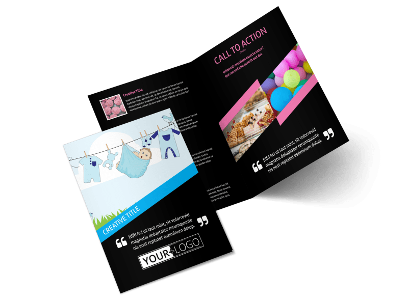 Baby Shower Service Brochure Template Preview 1