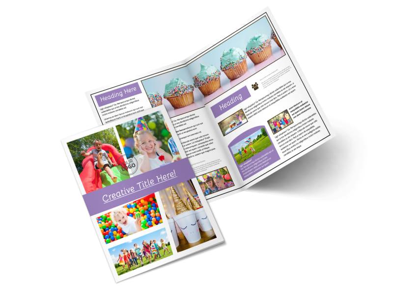 Generic Children Party Bi-Fold Brochure Template 2