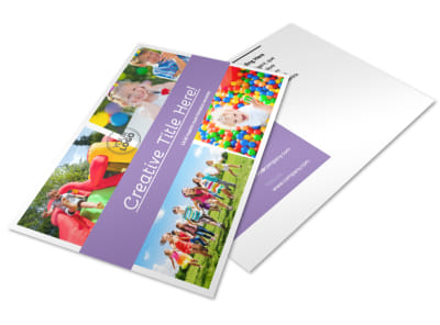 Generic Children Party Postcard Template 2 preview