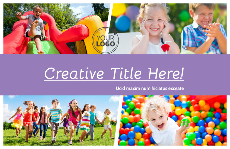 Generic Children Party Postcard Template Preview 2