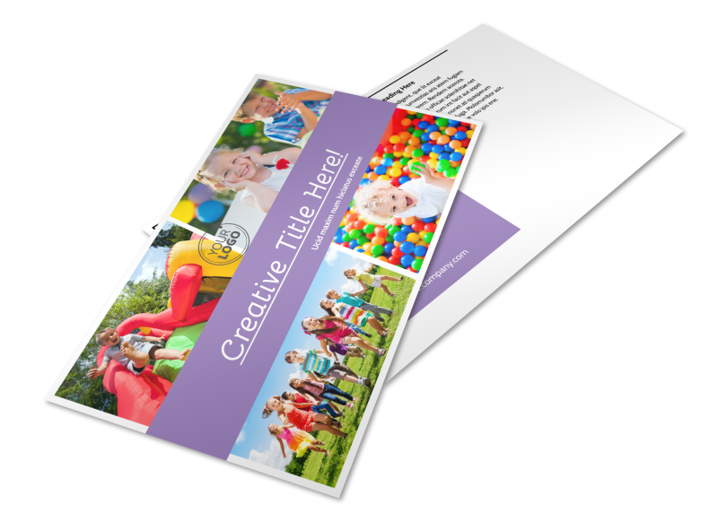 Generic Children Party Postcard Template Preview 1