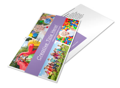 Generic Children Party Postcard Template