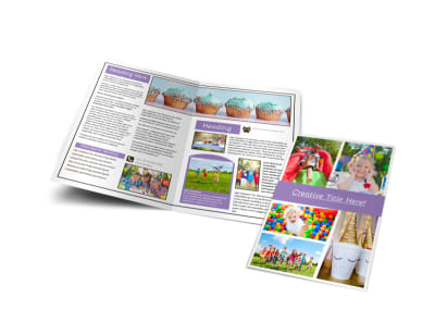 Generic Children Party Bi-Fold Brochure Template