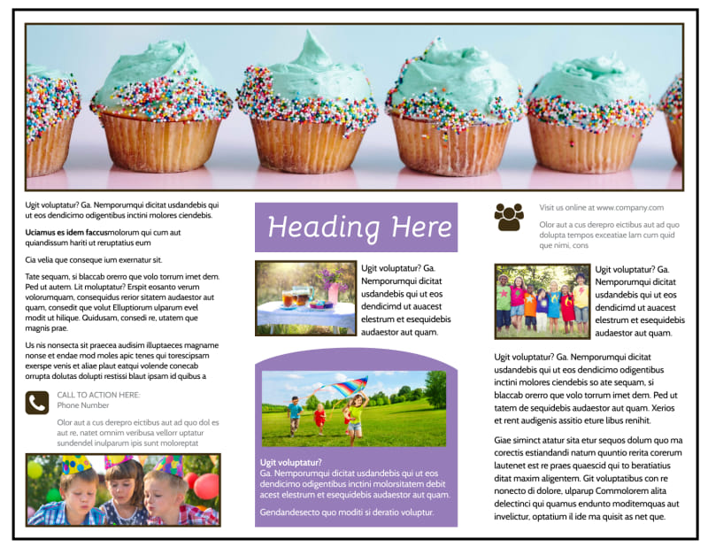 Generic Children Party Brochure Template Preview 3